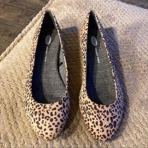 Dr Scholls Memory Foam Cool Fit Leopard Flats